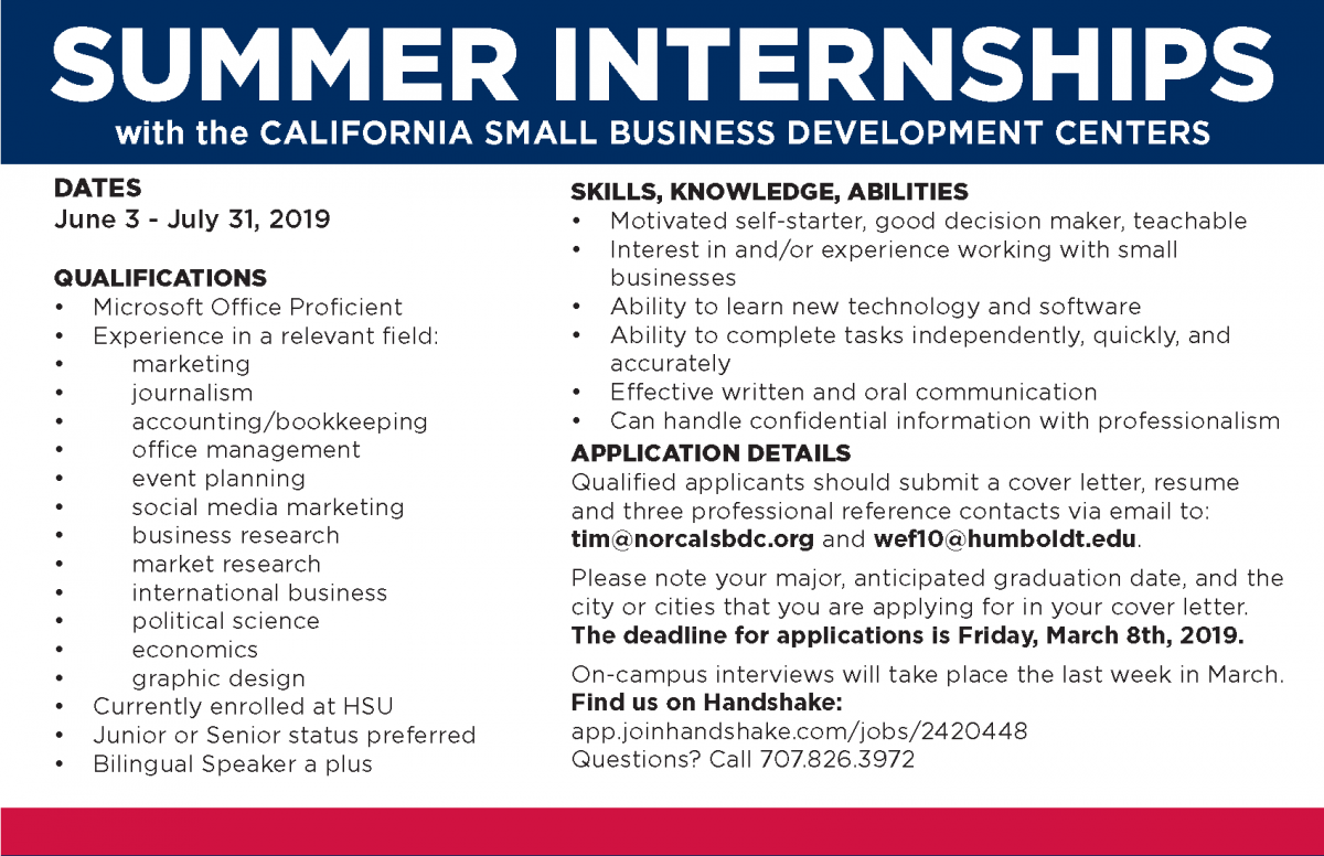 Summer 2019 Intern Program